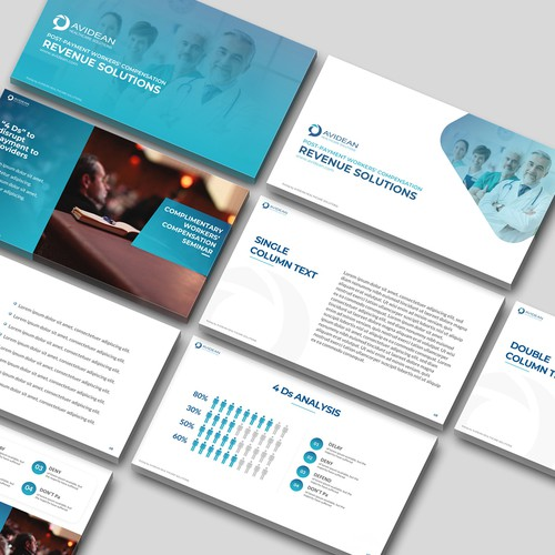 Slide design with the title 'Powerpoint Template Design - Contest Winner'