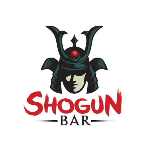 Nightclub logo with the title 'Shogun Bar logo'
