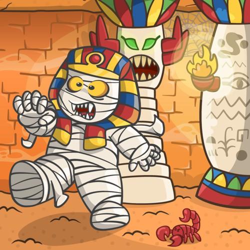 Scorpion design with the title 'Recreate child's artwork: the vampire mummy!'