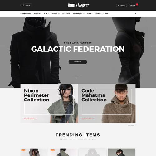 Eshop design with the title 'Online Shop'