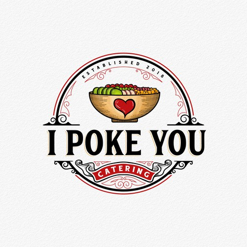 Catering logo with the title 'I Poke You'