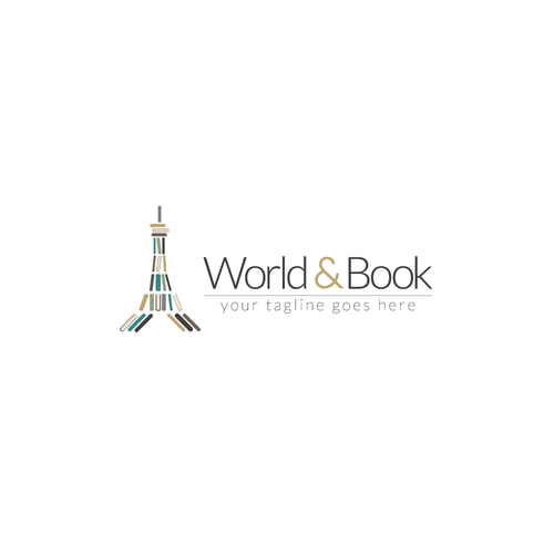World logo with the title 'Design a modern, fun logo to attract travellers and booklovers'