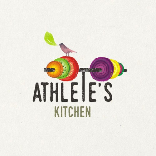 Restaurant brand with the title 'ATHLETE'S KITCHEN'