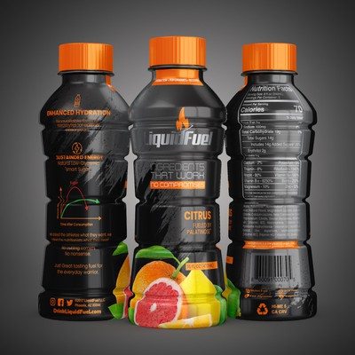 Design the bottle for an all-natural sports drink. Diabetic friendly.