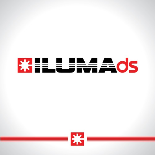 Laser logo with the title 'Iluma ds / logotype'