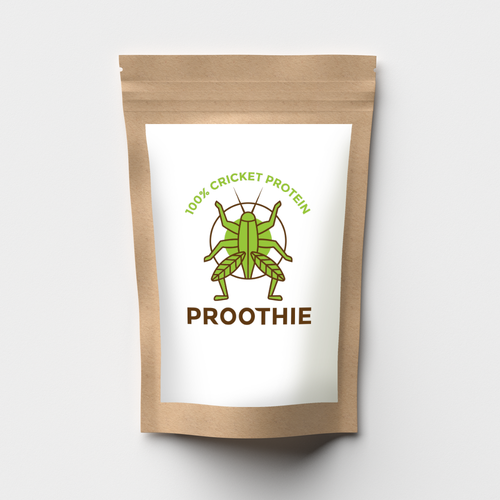 Protein logo with the title 'logo for cricket protein'