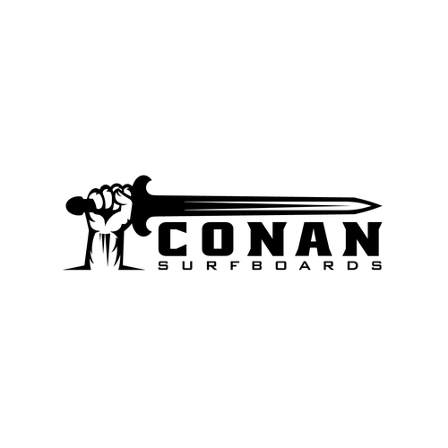 Barbarian design with the title 'CONAN LOGO'