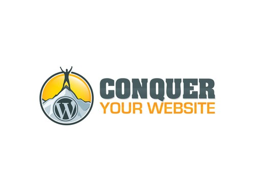 Silhouette logo with the title 'logo for Conquer Your Website'