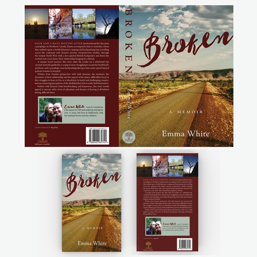 Photography book cover with the title 'Cover for Memoir'