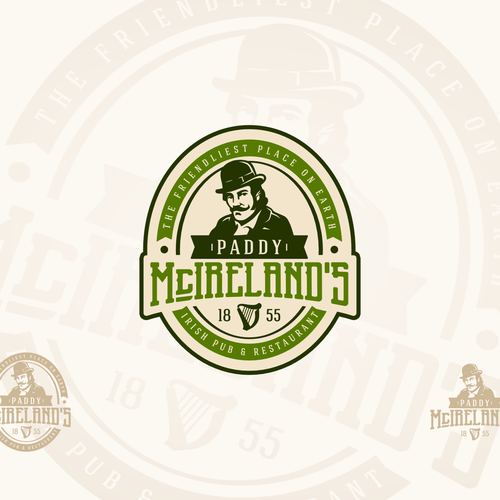 Gastropub logo with the title 'Paddy McIrelands'