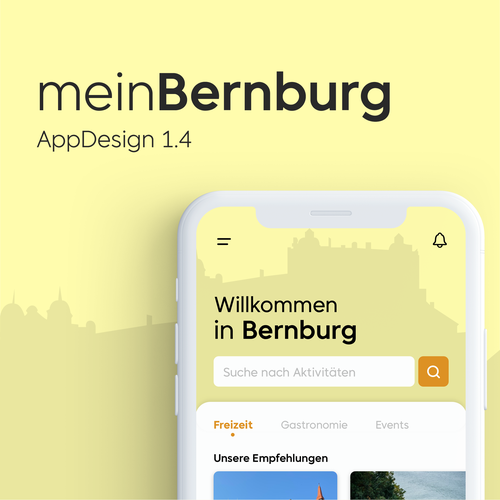 Leisure design with the title 'App for tourists in the german city Bernburg'
