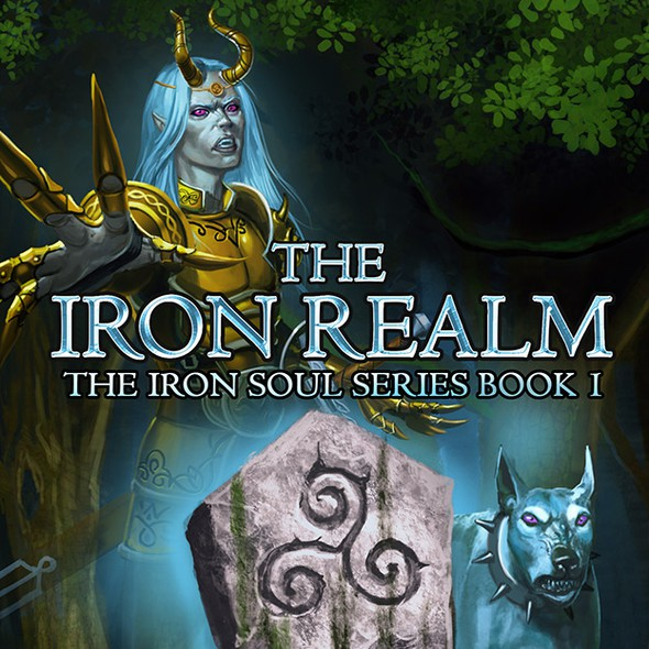 Digital book cover with the title 'Cover book The Iron Realm'