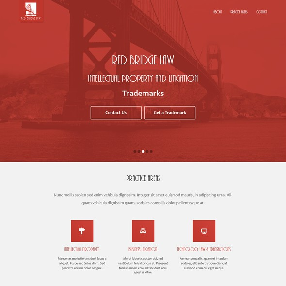 Mode design with the title 'Law firm website that is not a typical, template-based, boring law firm website'