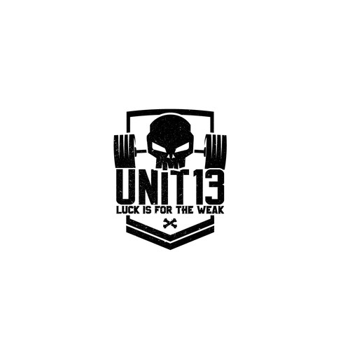 Bodybuilding logo with the title 'Unit 13'