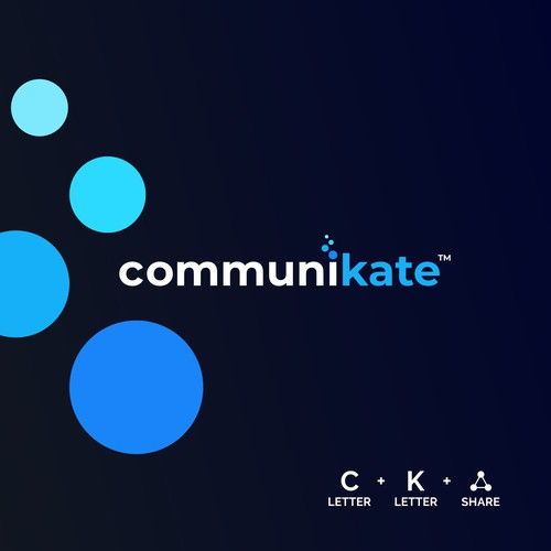 Awesome logo with the title 'CommuniKate'