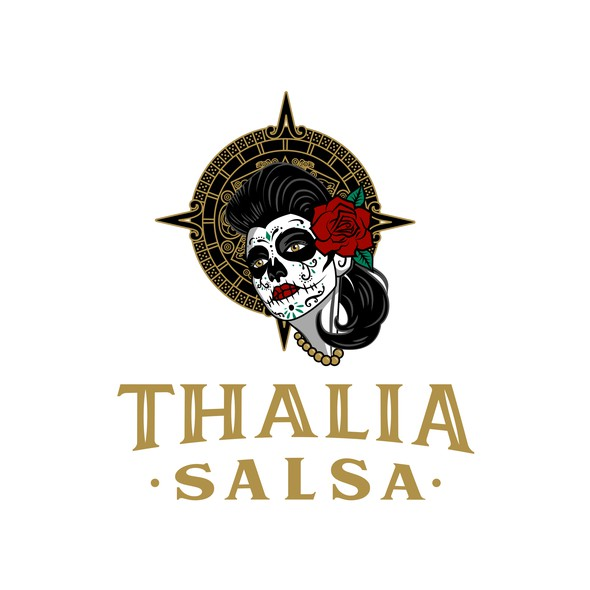 Mexican design with the title 'Logo for traditional Mexican salsa'