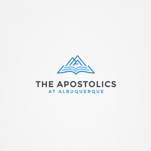 Bible design with the title 'Logo for a new church being planted in the heart of America's highest city.'