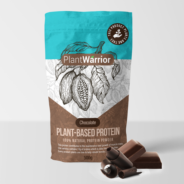 Fitness packaging with the title 'All natural protein mix'