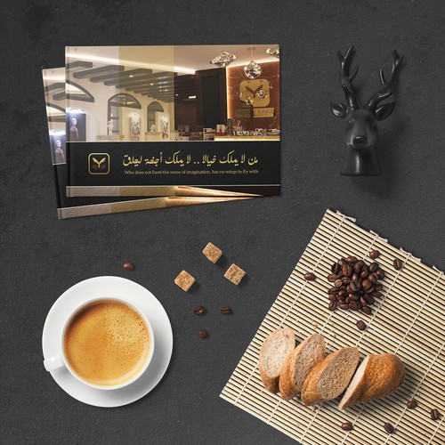 Lounge design with the title 'Luxurious Booklet for Muse Lounge'