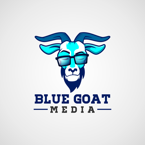 Goat farm logo with the title 'Hipster Goat'