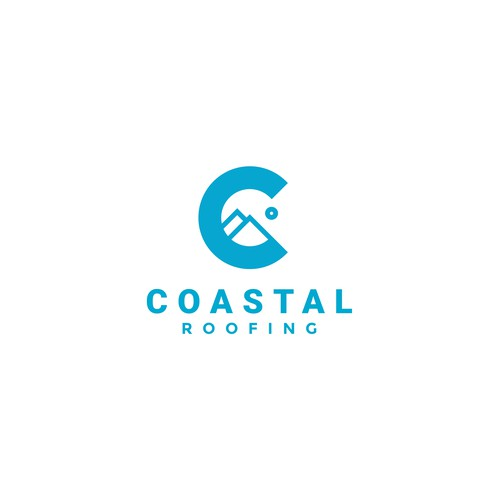 Rooftop logo with the title 'Coastal Roofing'