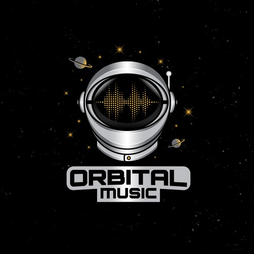Planet design with the title 'Orbital Music'