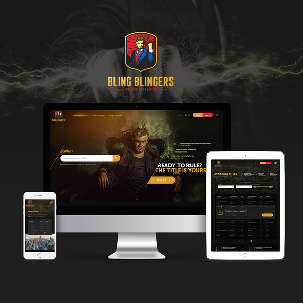 Statistics website with the title 'Website & UI/UX for new online game'