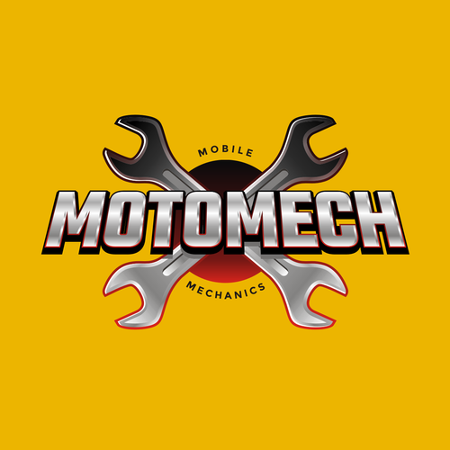 Automotive logo with the title '3D Logo for Mobile Mechanic Business'