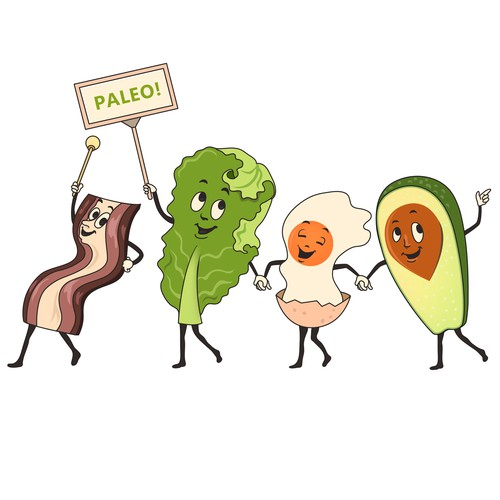 """Character t-shirt with the title 'Paleo! A Tshirt Parody of the Vintage """"Let's go out to the Lobby.."""" Commercial'"""