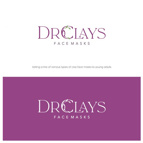 Clay design with the title 'DrClays Face Masks'