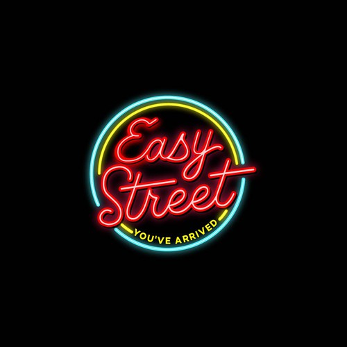 Restaurant logo with the title 'Easy Street'