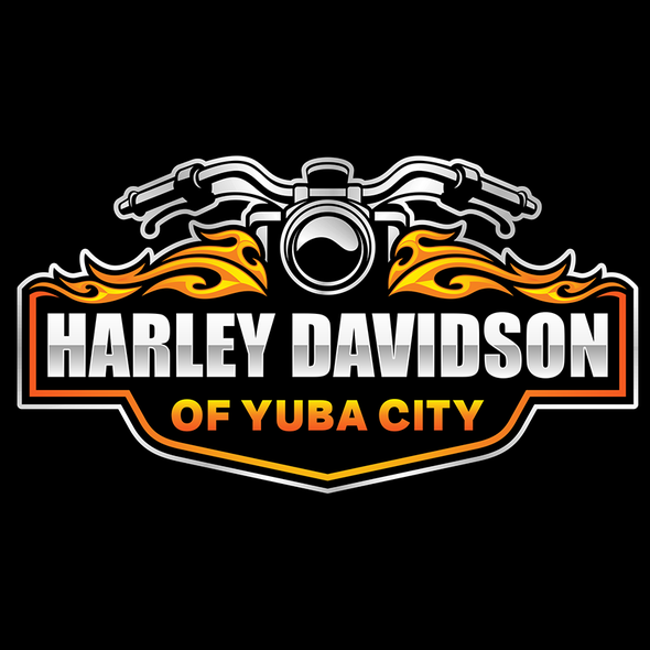 Dealer logo with the title 'New Motorcycle shop looking to brand with an edgy logo'