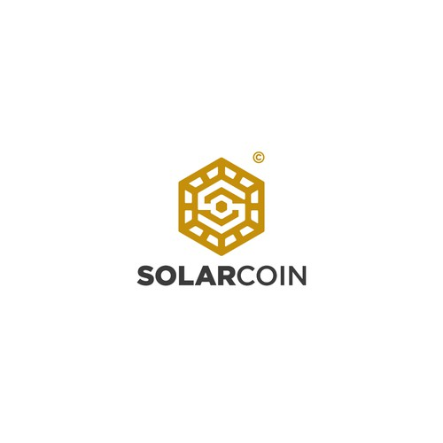 Crypto brand with the title 'SolarCoin crypto currency'