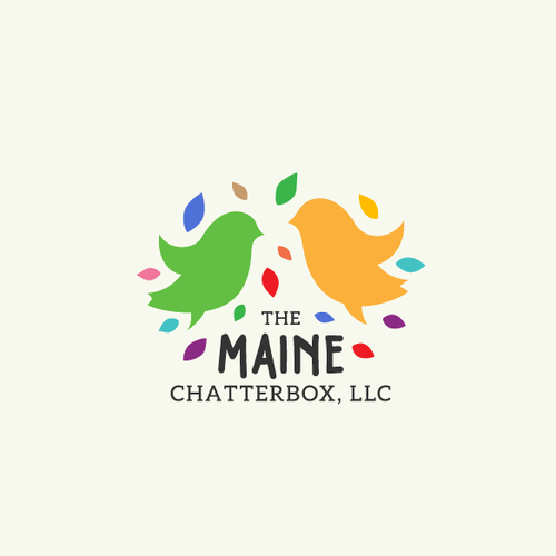 Speech design with the title 'Logo for The Maine Chatterbox'