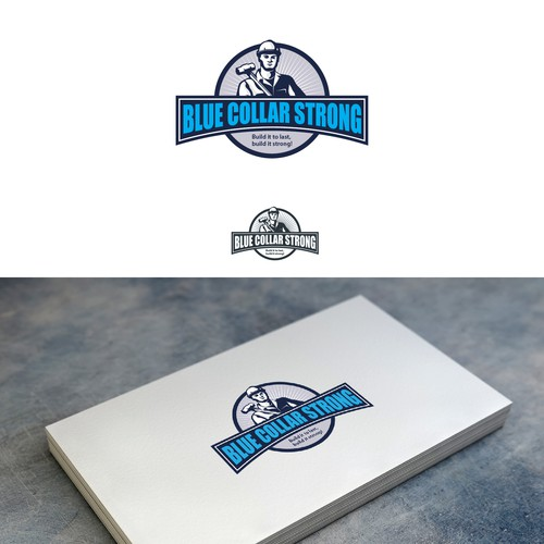 Man brand with the title 'Blue collar strong'