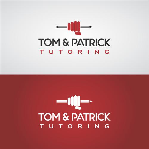 Tutoring logo with the title 'logo for Tom & Patrick Tutoring'