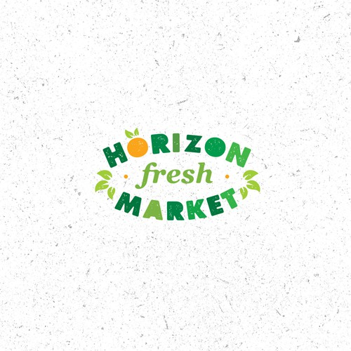 Local logo with the title 'Horizon Market Local Fresh Market Logo Concept'