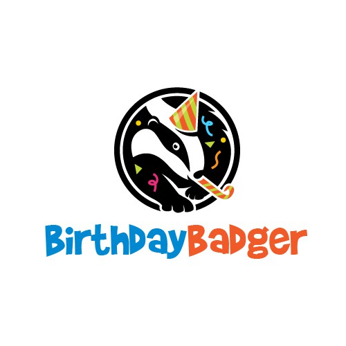 Birthday logo with the title 'Badger Mascot Logo'