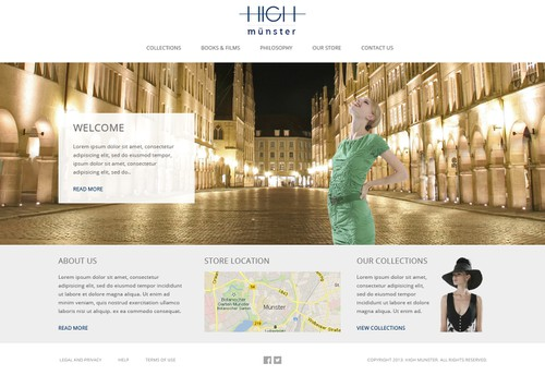 Sophisticated website with the title 'Fashion website design'
