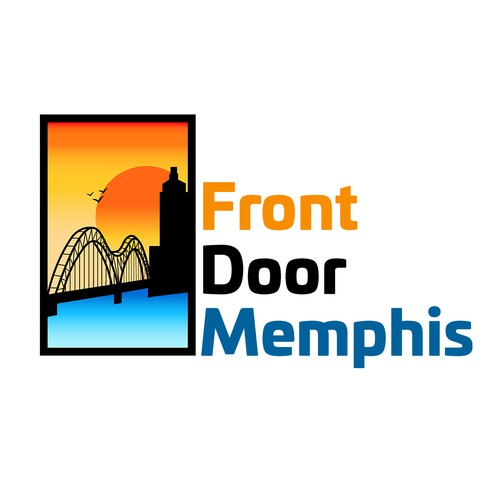 Memphis design with the title ' Modern real estate logo for a Memphis based business'
