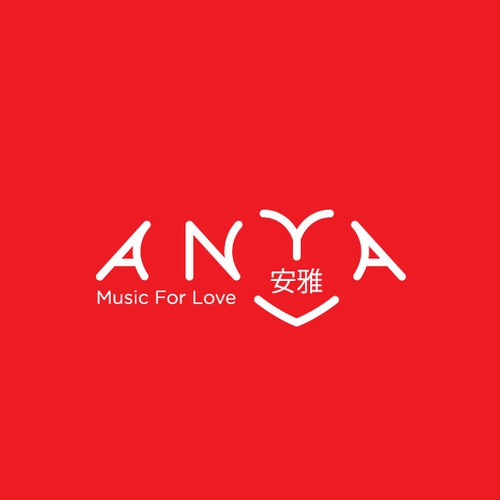 Love logo with the title 'Logo for a musician'