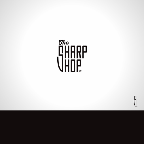 S logo with the title 'The Sharp Shop Logo'