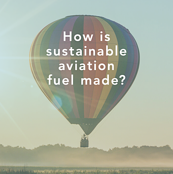 Sustainable design with the title 'Infographic – Sustainable Aviation Fuel.'