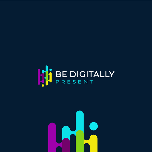 Playful logo with the title 'Be Digitally'