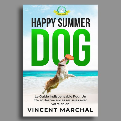 Dog book cover with the title 'Happy Summer Dog'