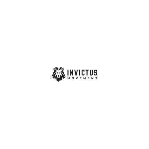 Kinetic logo with the title 'Logo Design for Invictus Movement'