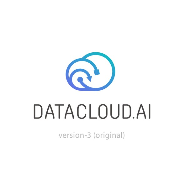 Purple and blue design with the title 'data cloud'