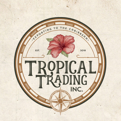 Nautical design with the title 'Tropical Trading Inc.'