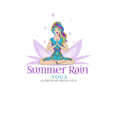 Yoga logo with the title 'Yoga girl illustration'