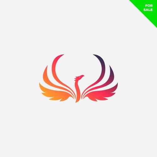 Phoenix logo with the title 'graceful phoenix logo'